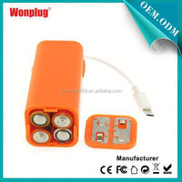 2014 newest designed top sales AA batteries power bank case for ipad mini