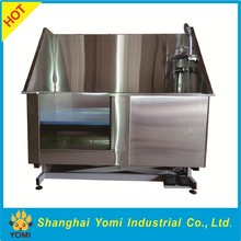 Stainless steel electric lifting pet bathtub with door
