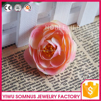 Colorful Multi-layers camellia flower head head/single head flower/head flower for DIY wreath