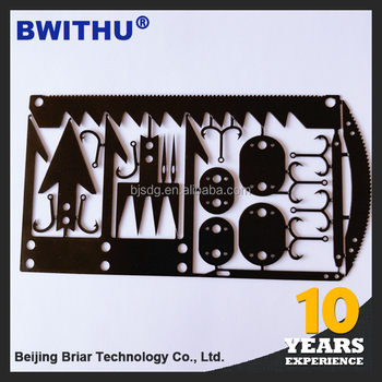 2017 BWITHU Credit Card Knife Wallet Sized Multi Tool Emergency Kit