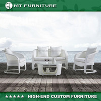 modern design and popular rattan outdoor sofa set 4pcs furniture