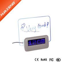 USB recordable message clock