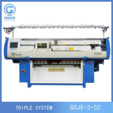 Three System Home Use Computerized Flat Knitting Machine for Jacquard Sweater Stoll Type