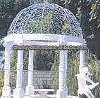white antique marble gazebo decor column