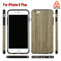 For iPhone 6 Plus TPU wood back case good quality mobile accessories color phone case cover for iphone 6 Plus