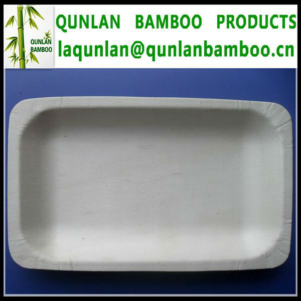 Wooden Disposable Rectangular Plates