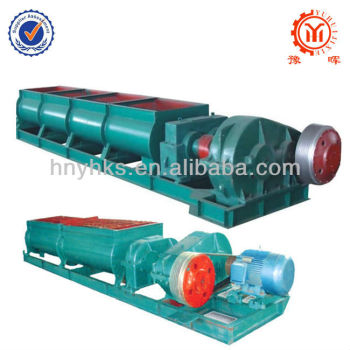 Industrial double shaft mixer for concrete block material