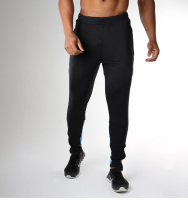Dual side slip pockets fashion track pants 66% cotton/34% polyester, sporty wardrobe essential jersey pants