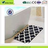 Soft feeling wholesale super water washable new oval bath mat