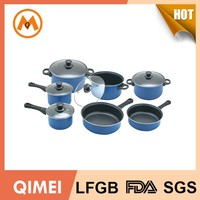 high painting carbon steel cookware pan set