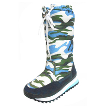 Fashion Women Winter Cold Weather Camo Snow Joggers Boots