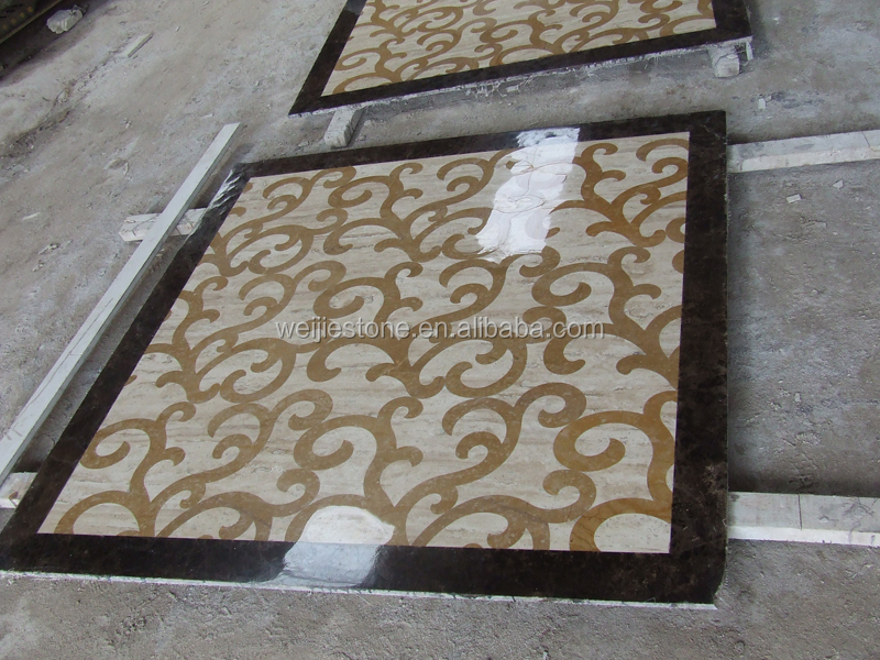 Marble Inlay Floor Gold : Quot square home marble floor inlay work design tile