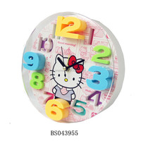 Round Shaped hello kitty 3 D alarm clock For kids clock