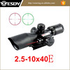 Mini Red & Green Dot Red Laser Sight 2.5-10X40 rifle scope
