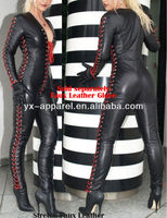 hot sexy halloween/carnival rubber leotard/latex sexy girls cosplay of catsuit costumes women picture