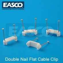 EASCO Plastic Double Nail Flat Cable Clip