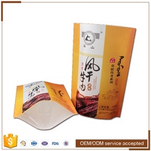 Custom printing zipper top stand up kraft paper pouches food grade for packaging coffee beans , nuts , candies