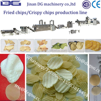 Extruded crispy chips /potato waved chips manufacturering plant