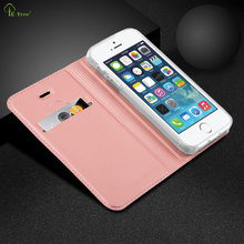 High quality pu leather case for apple iPhone5 wallet card slot case for iPhone5 cover