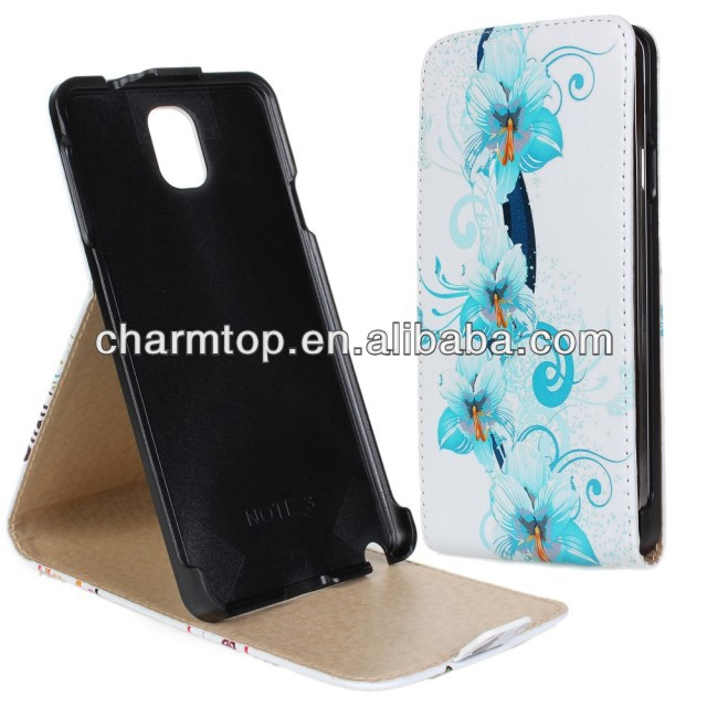 Flower Style Leather Flip Case For Samsung Galaxy Note 3