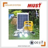 MUST 10W mini solar home lighting system / portable DC solar kits for camping