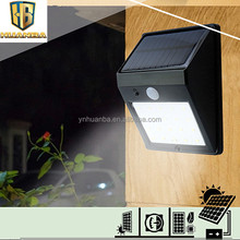 Outdoor 20 LED solar power PIR motion sensor wall light waterproof solar garden lamp