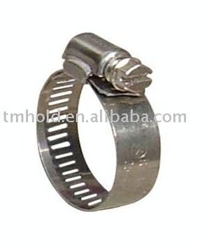 small america type stainless steel worm drive hose clamp with bandwidth 8mm