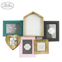 Wholesale unique custom home decoration lovely wooden photo frame