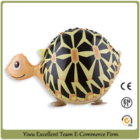 finished! come on ! walking tortoise balloon helium pet balloon