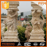 Hand carved natural stone carved onyx statues