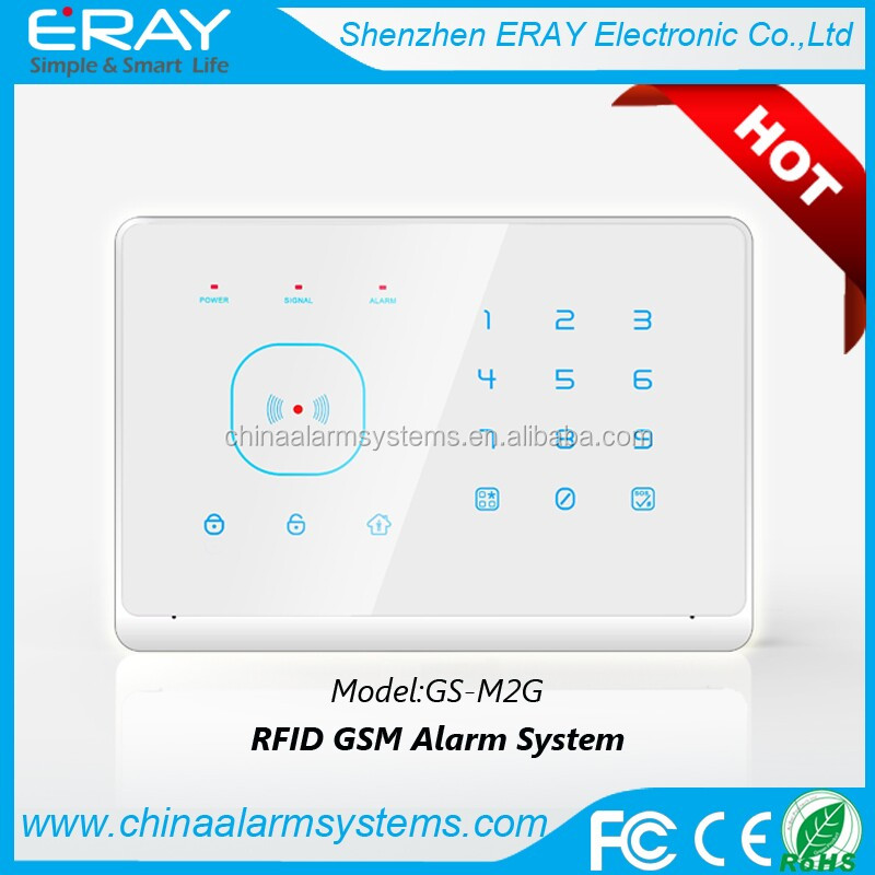 2013 GSM home sim card alarm system with RFID card