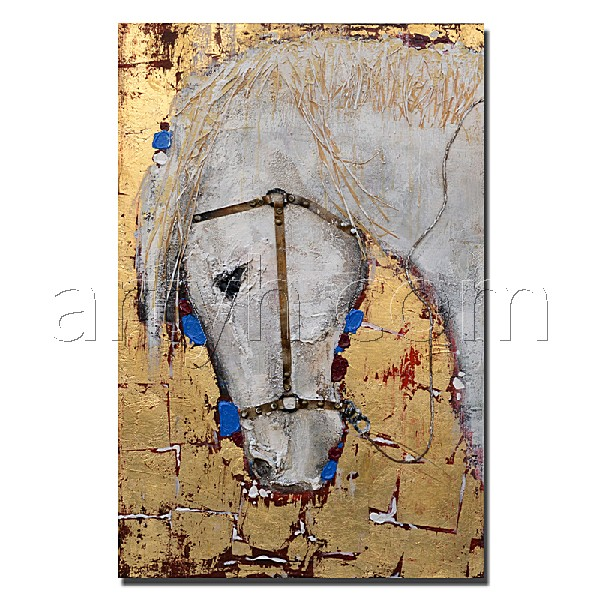 Modern High Quality Horses Animal Head Painting On Canvas For House Decor