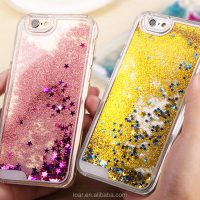 Bling Sparkle Glitter Stars Dynamic Liquid Quicksand Clear Plastic Case for iPhone 6s 6 plus