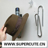 Creative Modern Cool design XXXL office paper clip metal hat coat wall hook