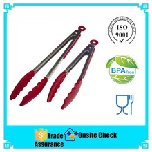 silicone mini tongs,silicone spatula tongs,function of food tongs