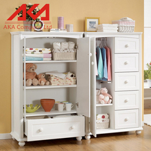 Indian bedroom wardrobe wooden white baby cabinet design