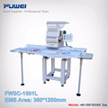 Fuwei good quality large area single head flat embroidery machine as brother type for baby clothing and cap hat