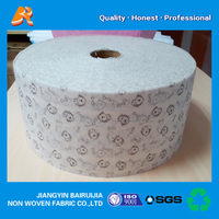High quality disposable pp print spunbond non-woven fabric cut in 17.5cm