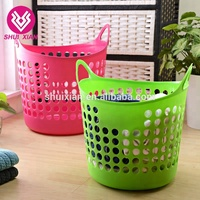 Eco-Friendly OEM plastic durable wicker laundry storage basket