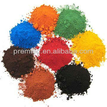 ISO Factroy Iron Oxide Red/Yellow/Black/Green/Brown/Blue for Block,Paver,Brick,Cement