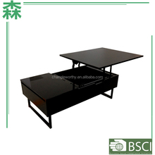 Yasen Houseware Lift Top Coffee Tables With Storage,Two Layers Coffee Table,Lift Top Coffee Table Hinges/Modern Table Lift Up