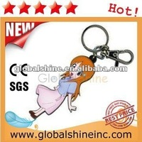 high quality cat pvc keychain bottle opener