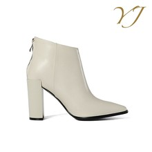 Popular and fashion ladies elegant durable winter pointed toe high heel boots shoes high ankle shoes