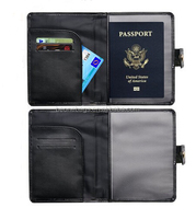 RFID Blocking Passport Wallet Holder Passport ID Card Holder Travel Cover