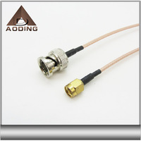 Whole sale bnc male to sma male connector RG316 RG178 coaxial cable
