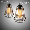 Decroative fixture fancy parlor iron wire lighting wooden vintage wrought iron led pendant light energy saving light source