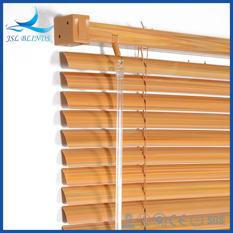 Best price 25mm wood grain pvc venetian window blinds for for Best price wood windows