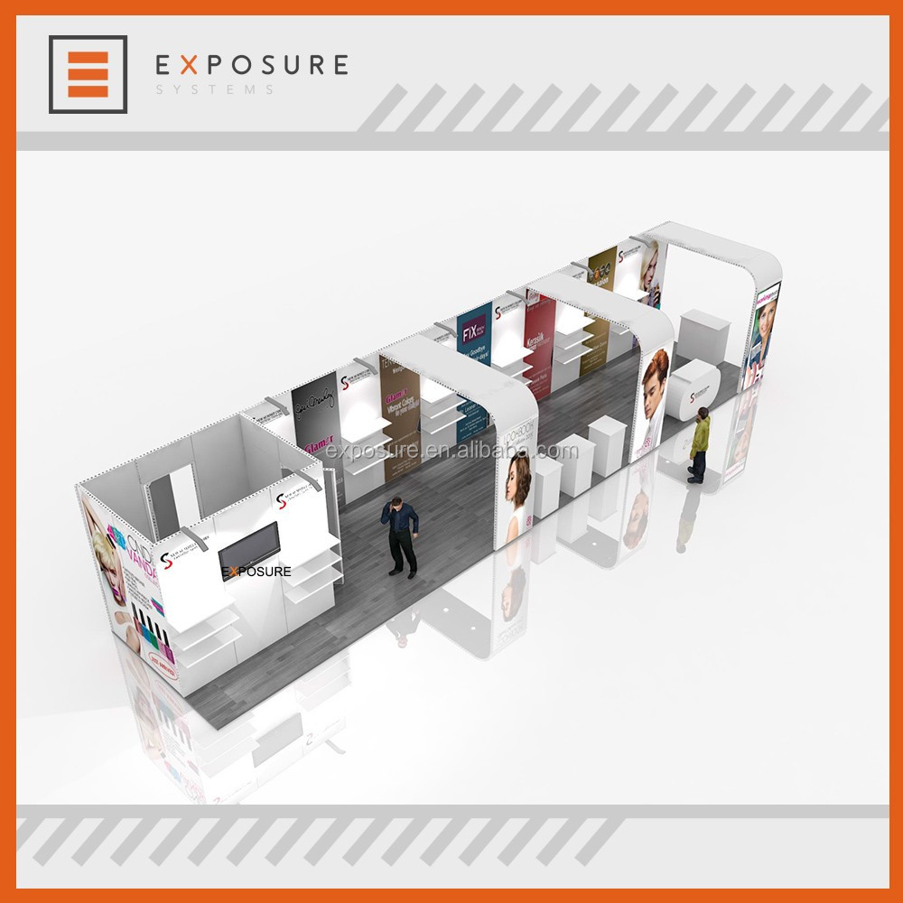 Assembly frame customized aluminum exhibition booth design