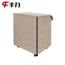 Colorful Office Equipment A4 File Cabinet 3 Drawer Mobile Pedestal