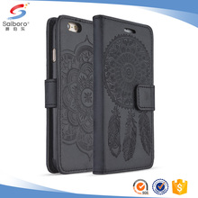 Customized flip cover leather phone case for iphone 7